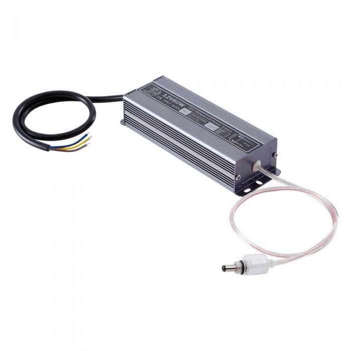 Driver 60W 12VDC IP65 Resistente a la Lluvia y al Polvo