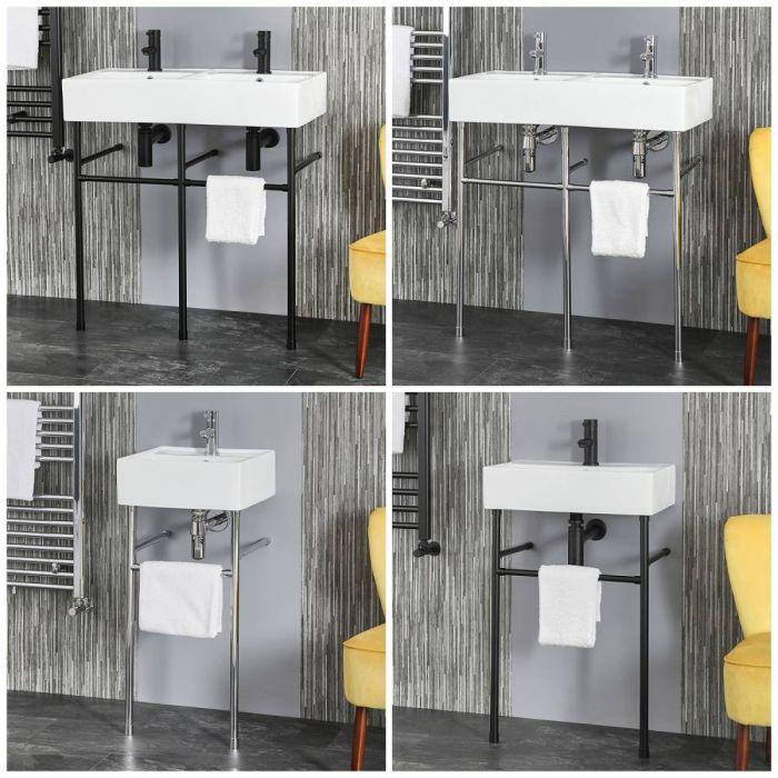Lavabo Consola - Disponible en Distintos Tamaños y Acabados - Halwell