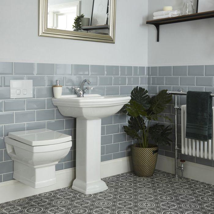 Conjunto Tradicional con WC Suspendido y Opción de Lavabos - Chester