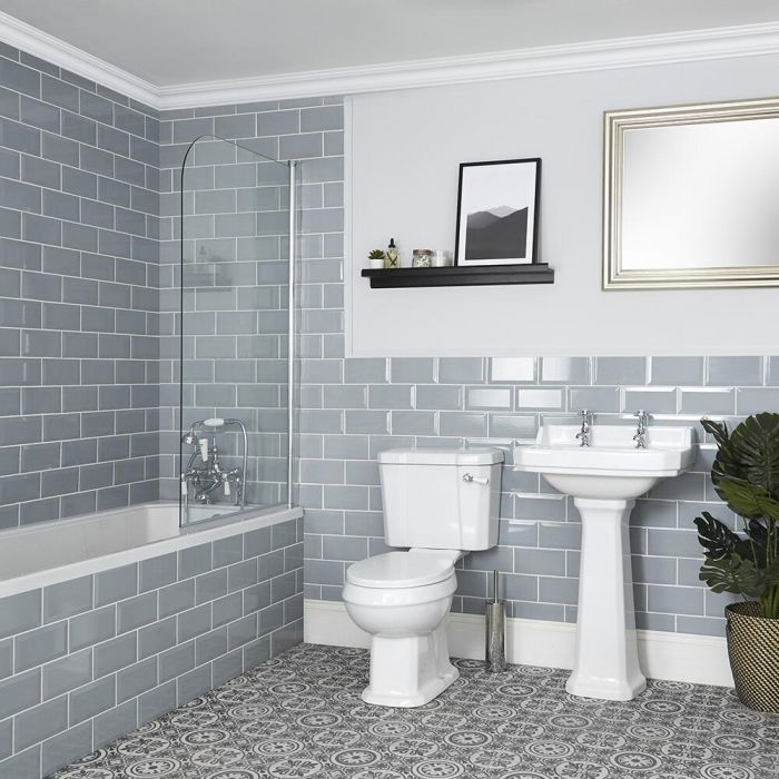 Conjunto de Baño Tradicional Completo Bañera, Inodoro y Lavabo con Pedestal - Richmond