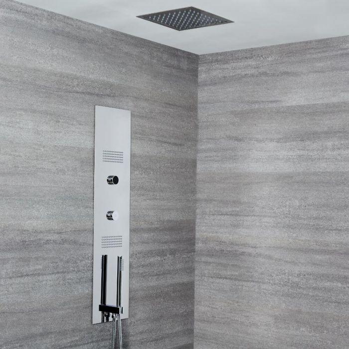 Panel de Ducha Digital Empotrable con Alcachofa de Ducha de Techo Empotrable de 280mm - Narus