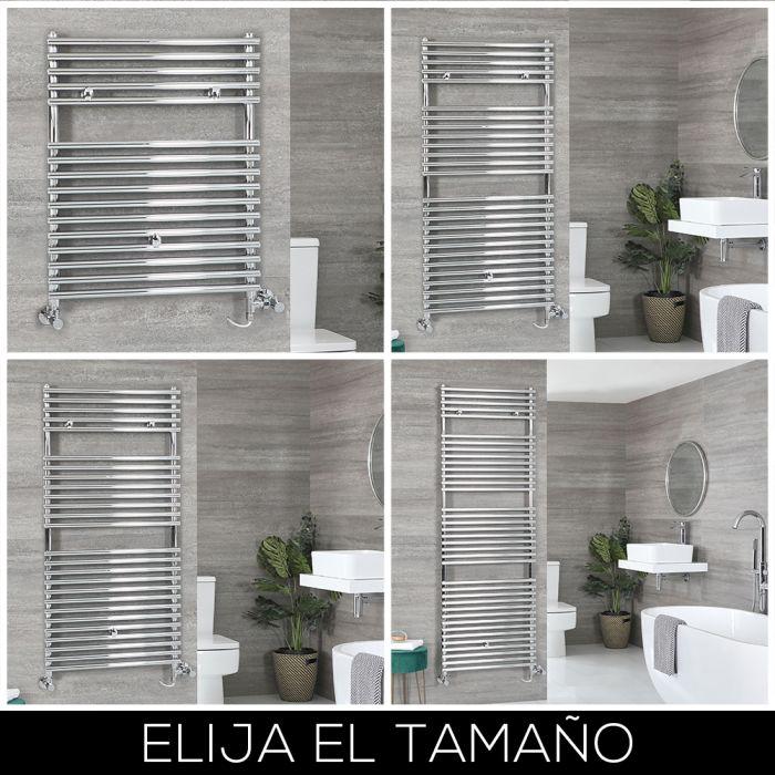 Radiador Toallero Mixto con Barras Cromadas - Disponible en Distintas Medidas - Arno