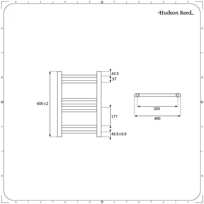 Radiador Toallero Mixto - Blanco Plano - 600mm x 400mm - Ive
