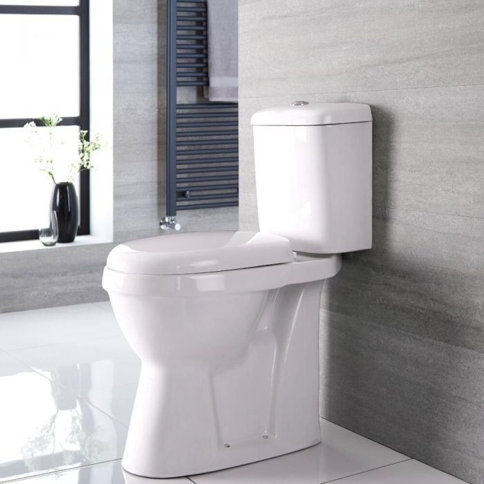 Pack de WC con Inodoro y Cisterna con Salida Horizontal para Personas con Movilidad Reducida