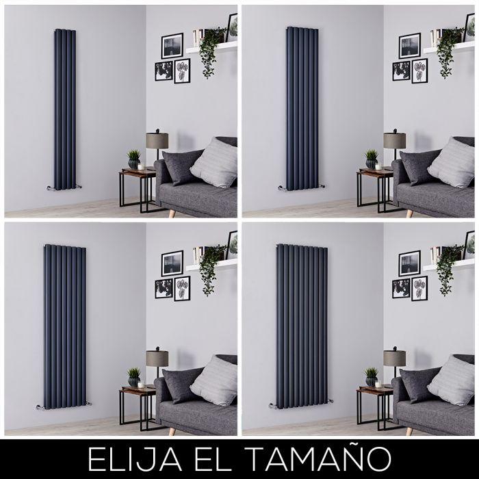 Radiador de Diseño Vertical - Antracita - 1800mm - Aluminio - Disponible en Distintas Medidas - Revive Air
