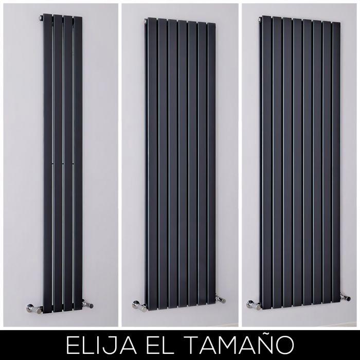 Radiador de Diseño Vertical Antracita Disponible en Distintos Tamaños -  Delta