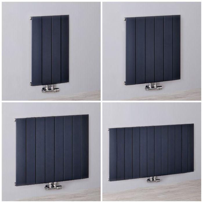 Radiador de Diseño Horizontal Antracita en Aluminio de 600mm - Aurora - Disponible en Distintas Medidas