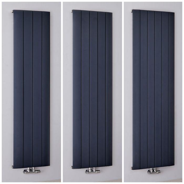 Radiador de Diseño Vertical Antracita en Aluminio - Aurora - Disponible en Distintas Medidas