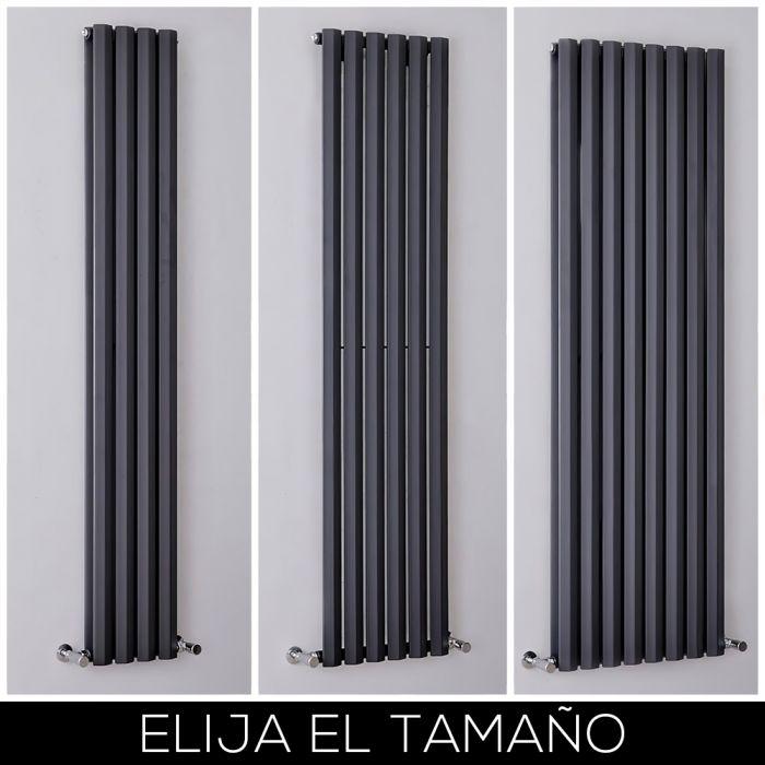Radiador de Diseño Antracita con Panel Vertical de 1780mm - Rombo - Disponible en Distintas Medidas