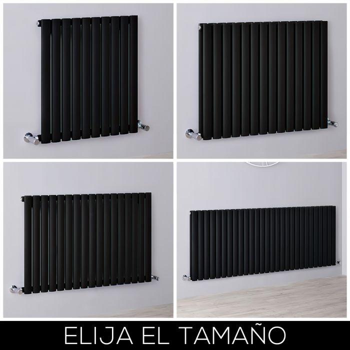 Radiador de Diseño Horizontal Negro Mate Disponible en Distintos Tamaños -  Revive