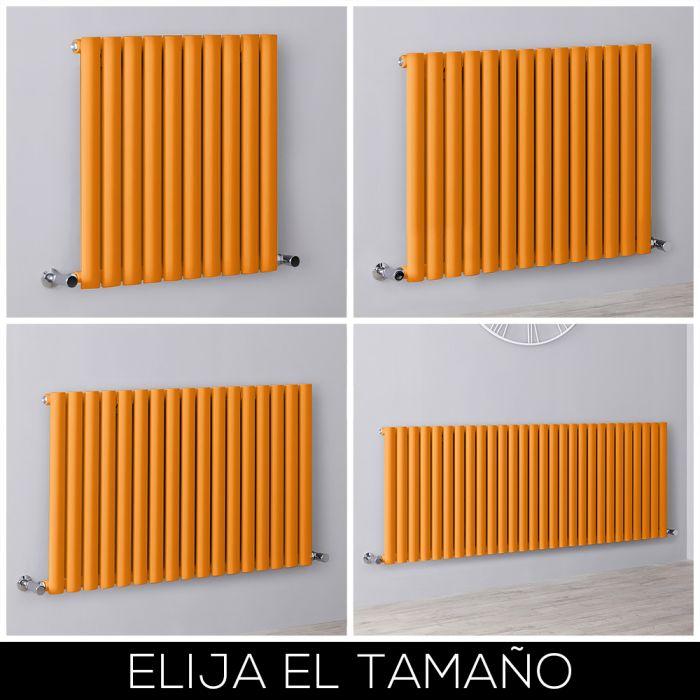 Radiador de Diseño Horizontal - Naranja - Revive - Disponible en Distintas Medidas