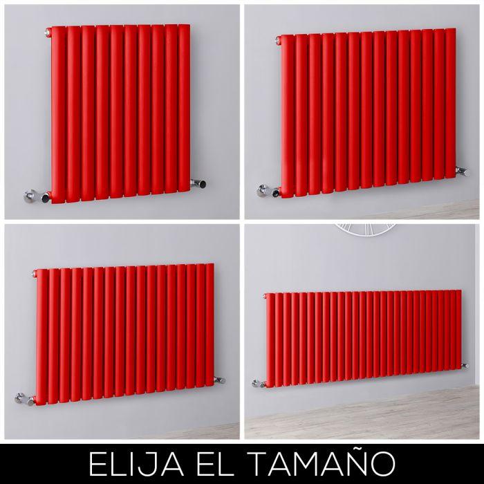 Radiador de Diseño Horizontal - Rojo - Revive - Disponible en Distintas Medidas