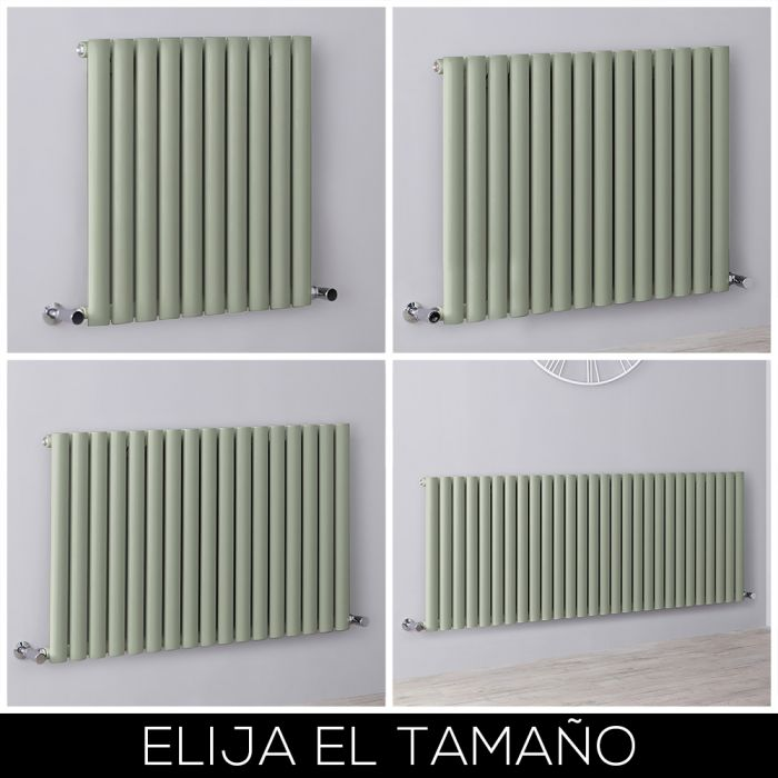Radiador de Diseño Horizontal - Verde Salvia - Revive - Disponible en Distintas Medidas