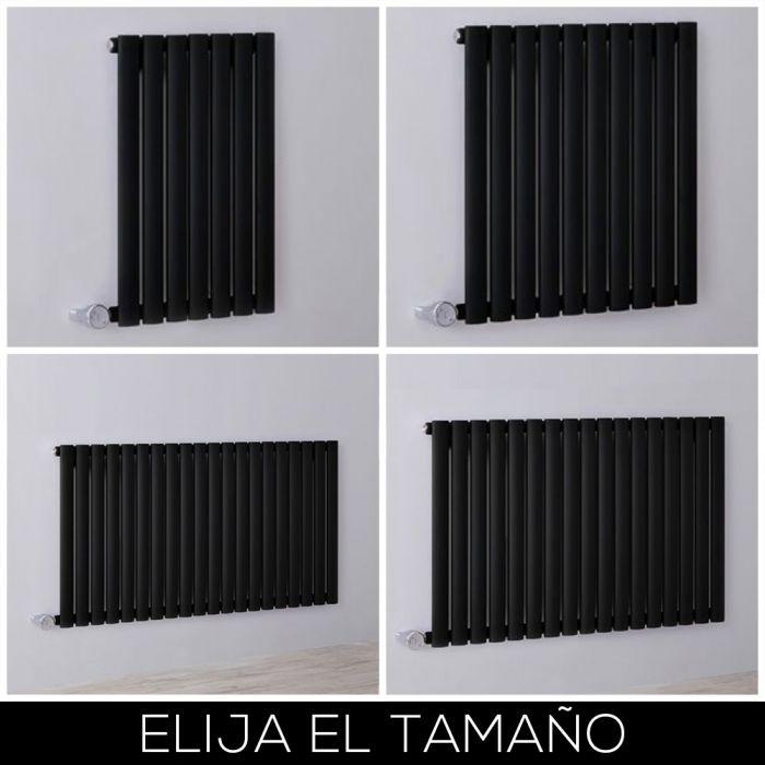 Radiador de Diseño Eléctrico Horizontal - Negro - 635mm - Disponible en Distintas Medidas - Revive