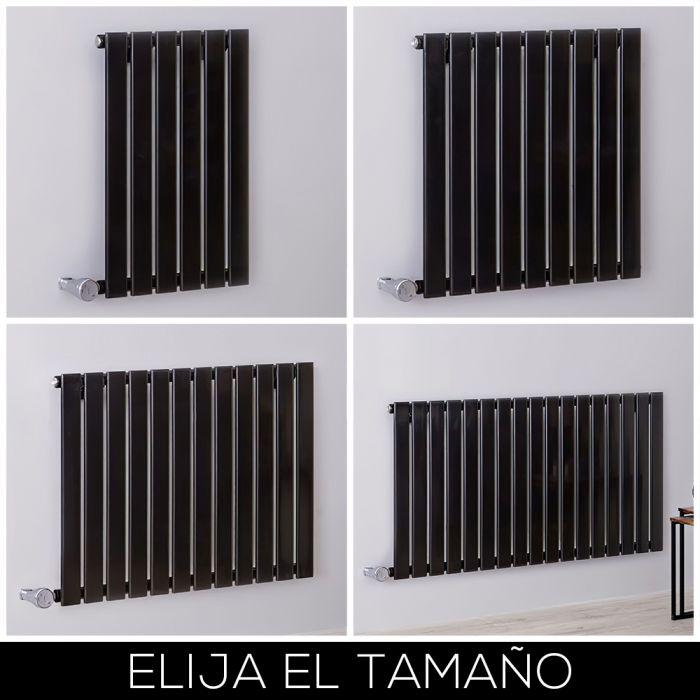 Radiador de Diseño Eléctrico Horizontal Negro de 635mm - Delta - Disponible en Distintas Medidas