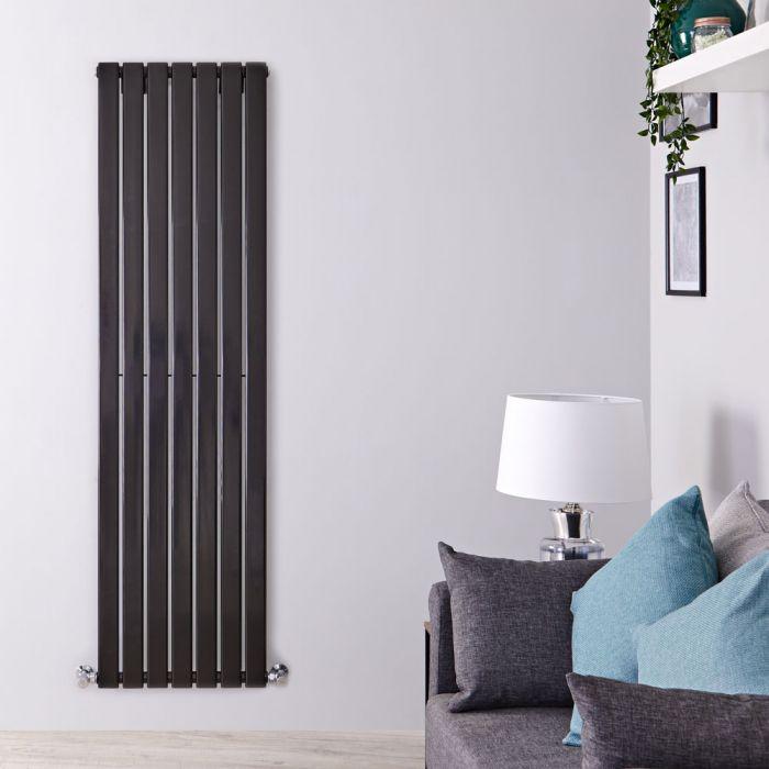 Radiador de Diseño Vertical - Negro Lúcido - 1600mm x 490mm x 47mm - 1025 Vatios - Delta