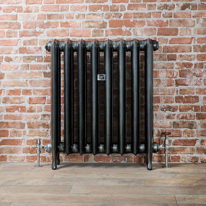 Radiador de Diseño Tradicional de 760mm de Hierro Fundido - Columnas Ovales - Color Peltre Oscuro - Erté - Disponible en Varias Medidas