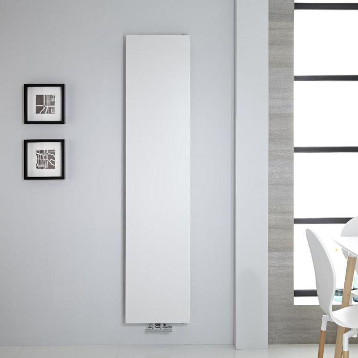 Radiador de Diseño Vertical - Panel Plano - Conexión Central - Antracita - 1800mm x 400mm - 842 Vatios – Rubi