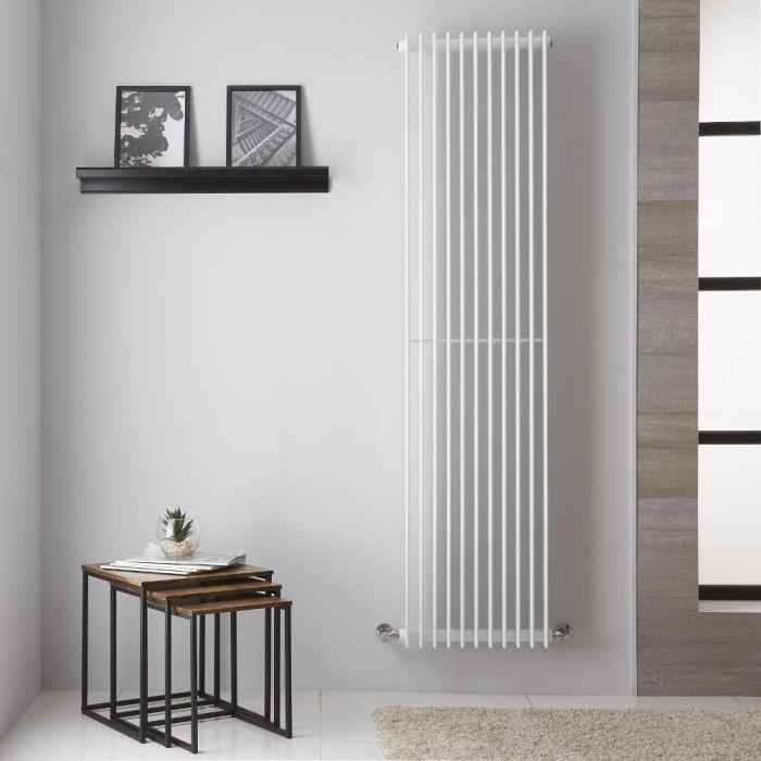 Radiador de Diseño Vertical - Color Blanco - 1800mm x 445mm - 1428 Vatios - Roma