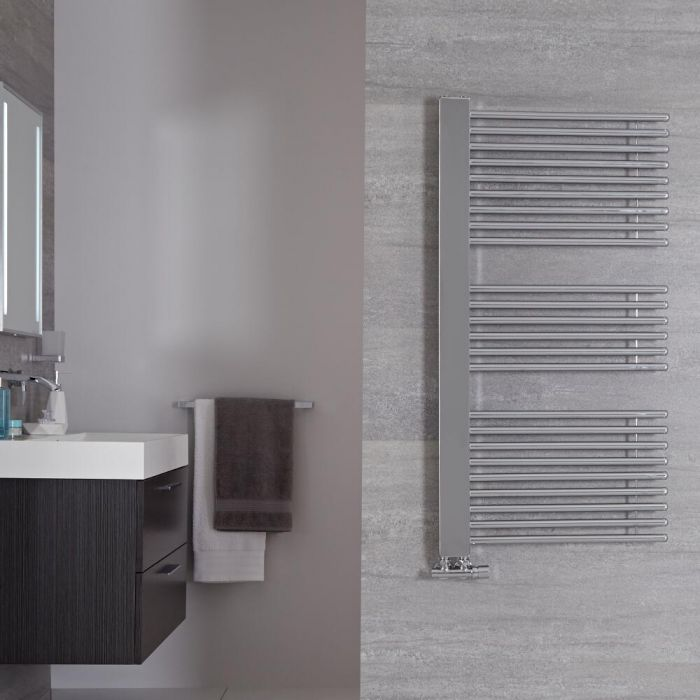 Radiador Toallero de Diseño Vertical -Cromado - 1190mm x 600mm - 443 Vatios - Bosa