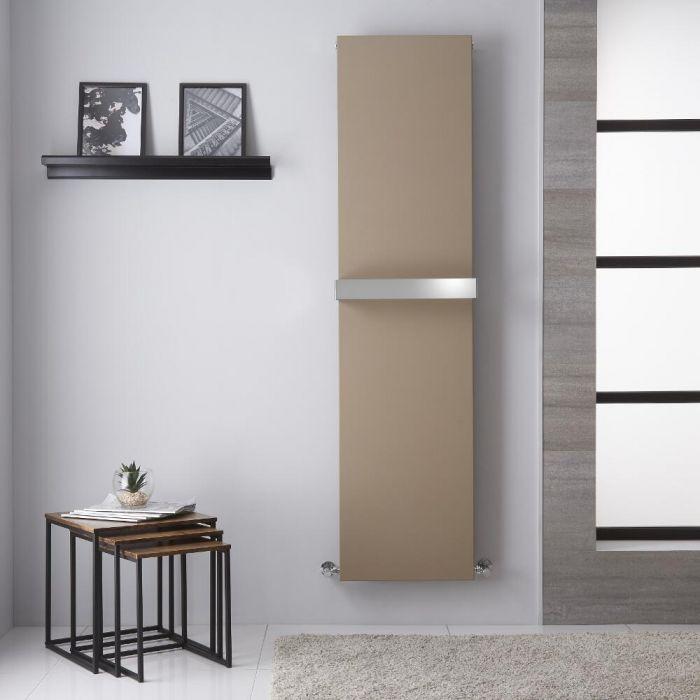 Radiador de Diseño Vertical - Panel Plano - Conexión Central - Color Cuarzo Mineral - 1800mm x 450mm - 923 Vatios - Trevi