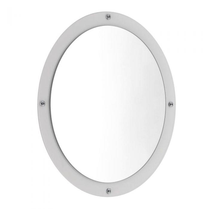 Espejo de Color Blanco para Radiadores de Diseño de la Colección Atrani