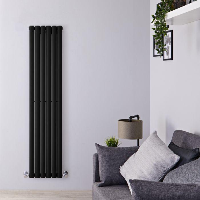 Radiador de Diseño Vertical - Negro Mate - 1600mm x 354mm x 56mm - 841 Vatios - Revive