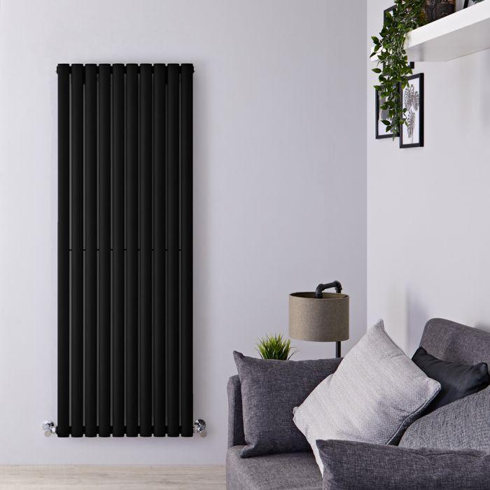 Radiador de Diseño Vertical - Negro Mate - 1600mm x 590mm x 55mm - 1402 Vatios - Revive