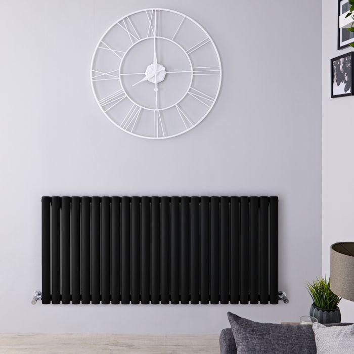 Radiador de Diseño Horizontal - Negro Mate - 635mm x 1411mm x 56mm - 1432 Vatios - Revive