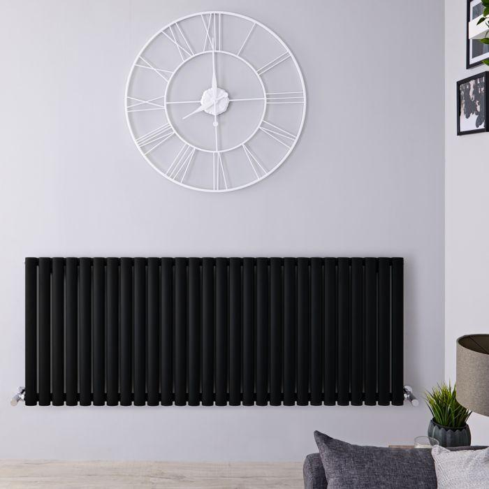 Radiador de Diseño Horizontal - Negro Mate - 635mm x 1647mm x 56mm - 1671 Vatios - Revive
