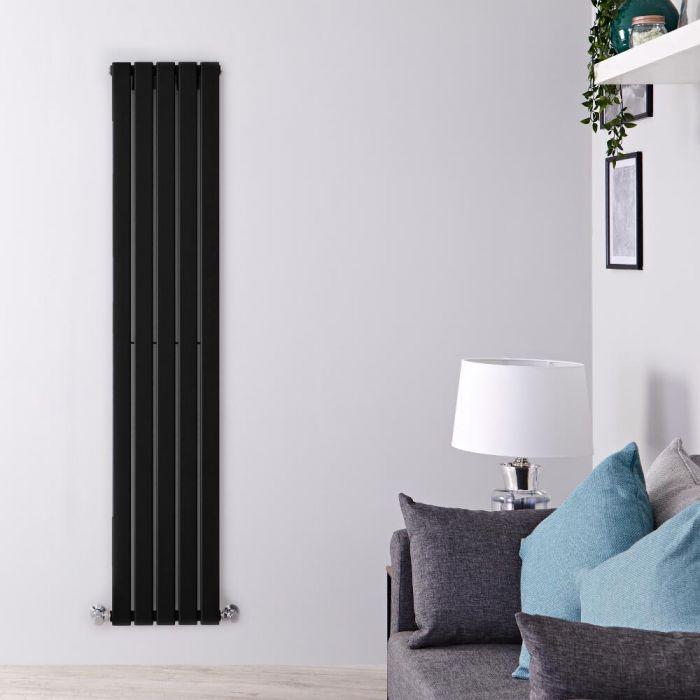 Radiador de Diseño Vertical - Negro Mate  - 1600mm x 350mm x 47mm - 732 Vatios - Delta