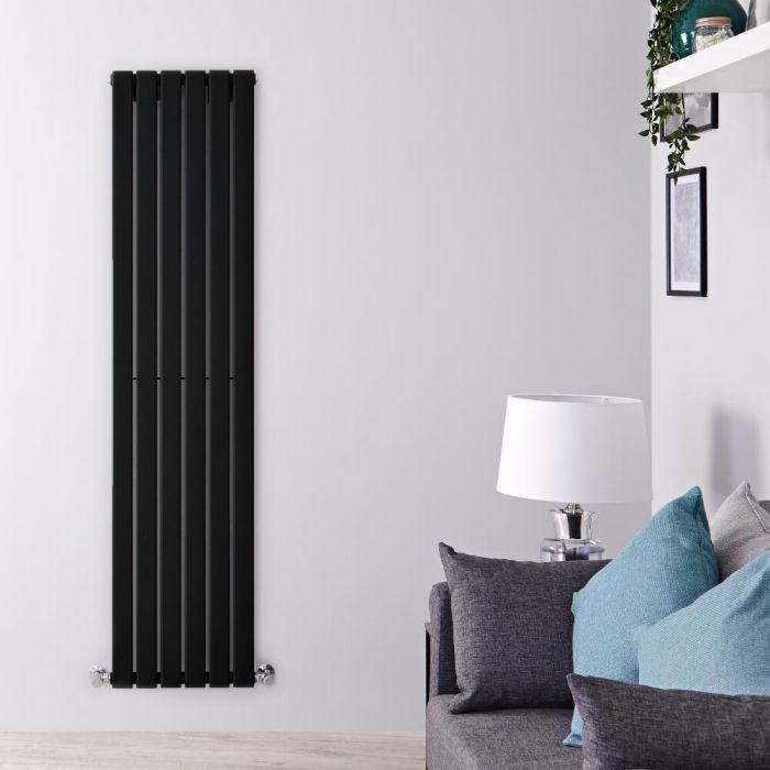 Radiador de Diseño Vertical - Negro Mate  - 1600mm x 420mm x 47mm - 879 Vatios - Delta