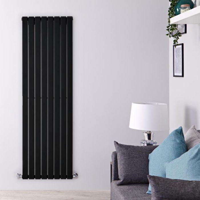 Radiador de Diseño Vertical - Negro Mate  - 1600mm x 560mm x 47mm - 1172 Vatios - Delta