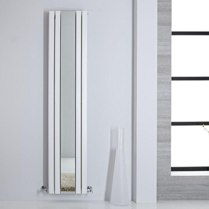 Radiador de Diseño - Vertical Con Espejo - Blanco - 1800mm x 385mm - 1658 Vatios - Sloane