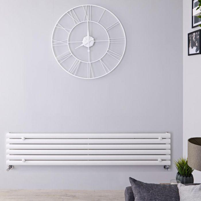 Radiador de Diseño Horizontal - Blanco - 354mm x 1600mm x 56mm - 814 Vatios - Revive
