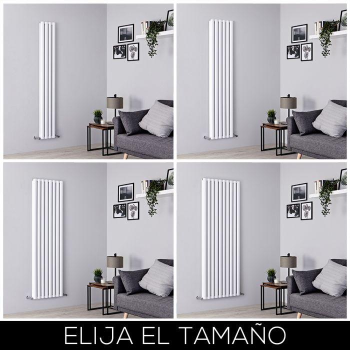 Radiador de Diseño Vertical - Blanco - 1800mm - Aluminio - Disponible en Distintas Medidas - Revive Air