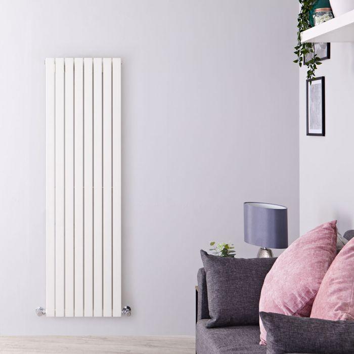 Radiador de Diseño Vertical Panel Único - Blanco - 1600mm x 472mm x 53mm - 1149 Vatios - Sloane