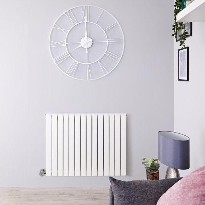 Radiador de Diseño Eléctrico Horizontal - Blanco - 635mm x 826mm x 54mm -  Elemento Termostático de 1000W  - Sloane