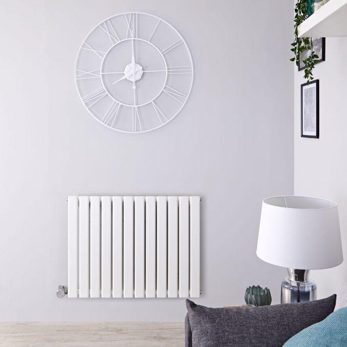 Radiador de Diseño Eléctrico Horizontal - Blanco - 635mm x 840mm x 46mm -  Elemento Termostático de 800W  - Delta