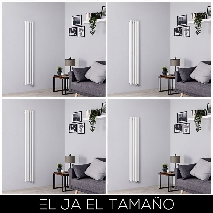 Radiador de Diseño Eléctrico Vertical - Blanco - 236mm - Disponible en Distintas Medidas - Revive