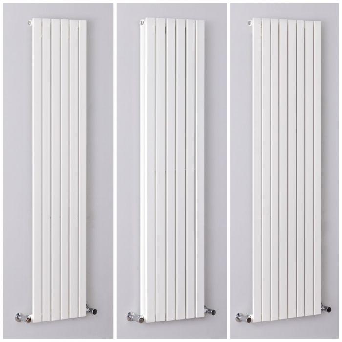 Radiador de Diseño Vertical Plano Blanco - Sloane - Disponible en Distintas Medidas