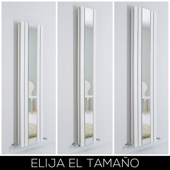 Radiador de Diseño Blanco Vertical con Espejo - Sloane - Disponible en Distintas Medidas