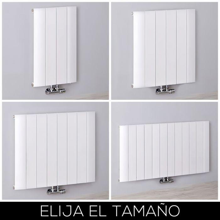 Radiador de Diseño Horizontal Blanco en Aluminio de 600mm - Aurora - Disponible en Distintas Medidas