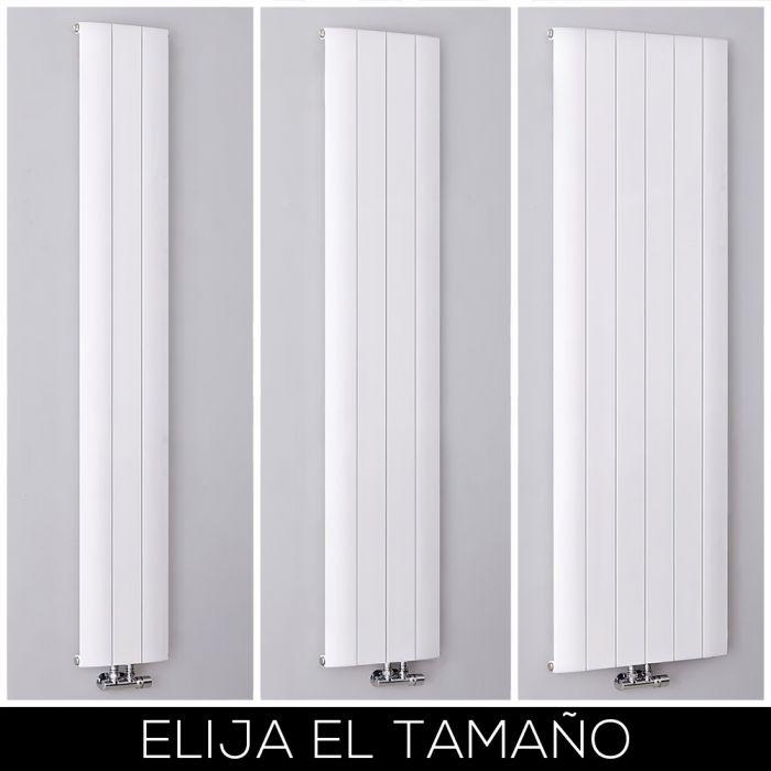 Radiador de Diseño Vertical Blanco en Aluminio - Aurora - Disponible en Distintas Medidas