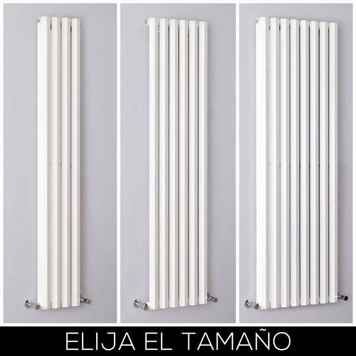 Radiador de Diseño Blanco con Panel Vertical de 1780mm - Rombo - Disponible en Distintas Medidas