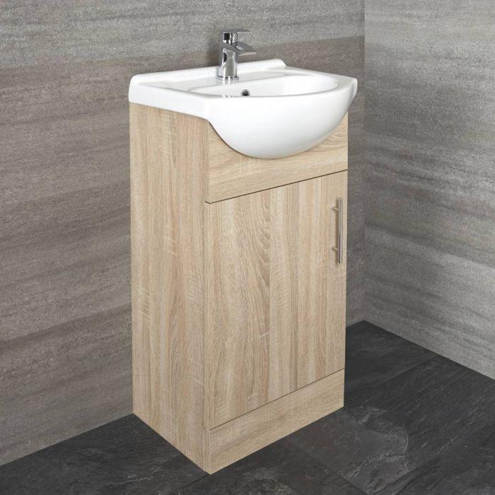 Mueble de Lavabo Efecto Roble 455mm - Classic Oak