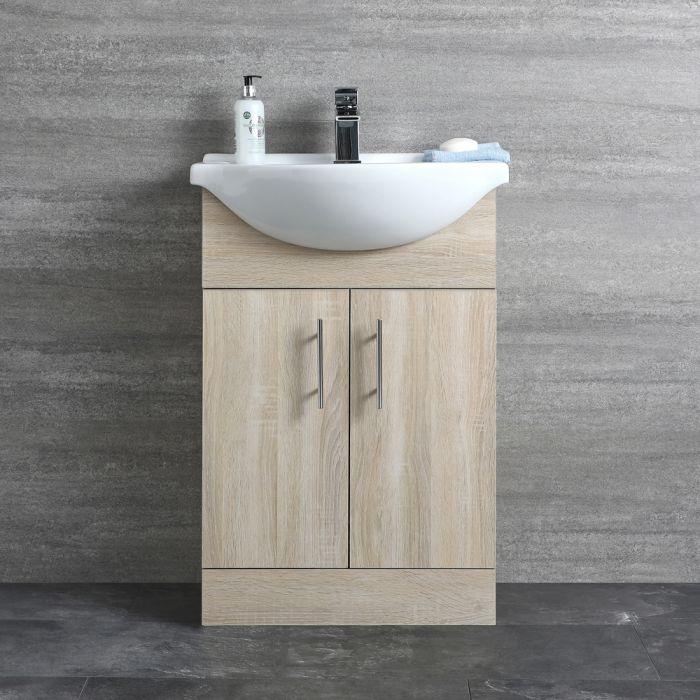 Mueble de Lavabo Efecto Roble 83,5x55x43cm - Classic Oak