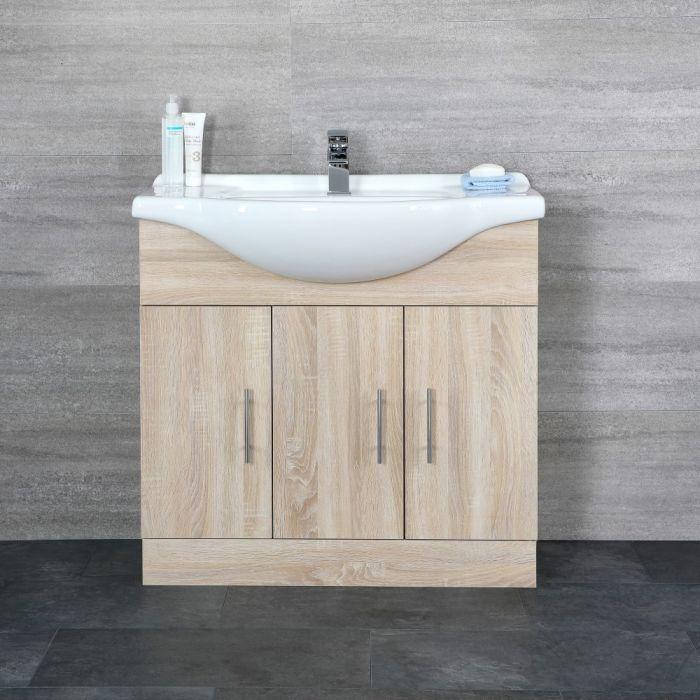 Mueble de Lavabo Efecto Roble 85x83x48cm - Classic Oak