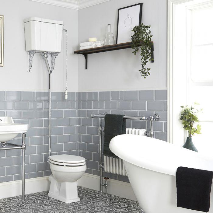 Pack de WC Tradicional con Inodoro y Cisterna Alta Cadena y Opción de Distintas Tapas de WC - Richmond