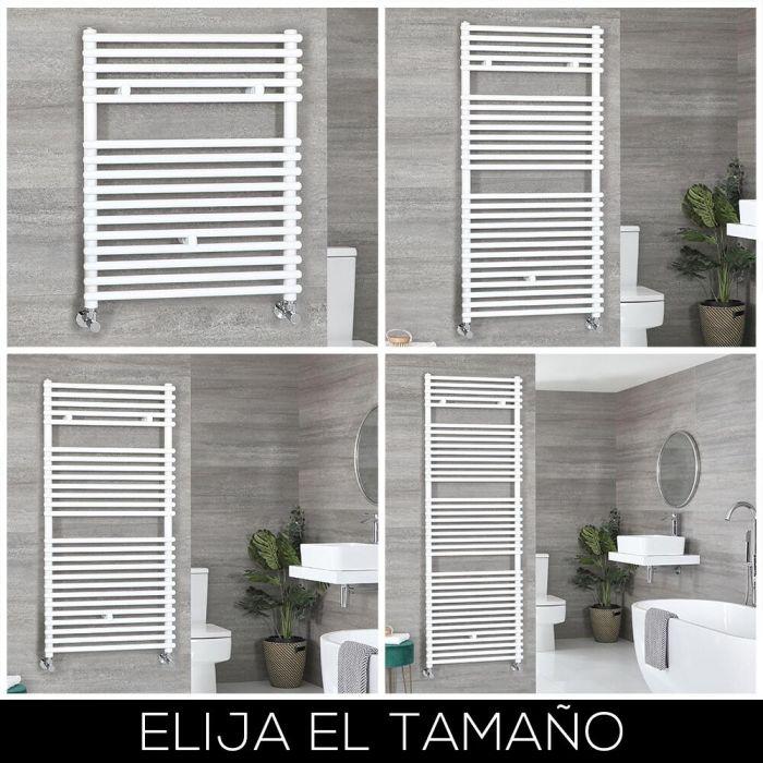 Radiador Toallero Blanco con Barras - Disponible en Distintas Medidas - Arno
